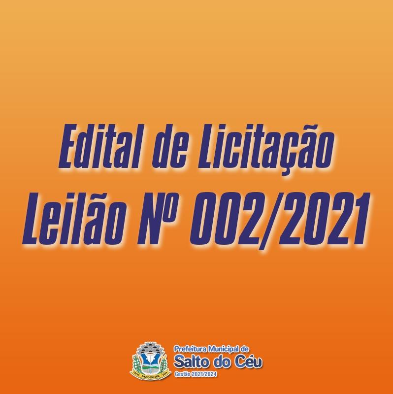Leilão Nº 002/2021